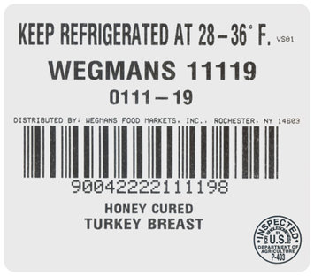 Wegmans® Delicatessen Honey Cured Turkey Breast 1 ct Package