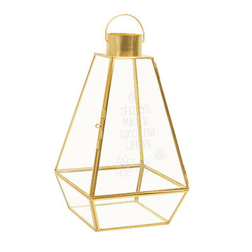 Cathys Concepts Personalized Gold Metal Terrarium