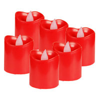 Cysexcel CYS LED-12 Battery-powered Flameless LED Votive Candles, Pack of 12 pcs - Red Case