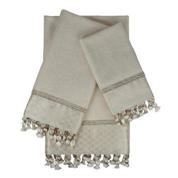 Sherry Kline Rochdale 3 Piece Embellished Towel Set