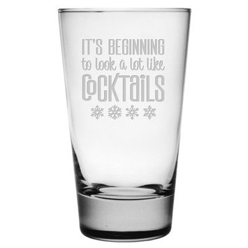 The Holiday Aisle Look A Lot Like Cocktails Heavy Base Hiball 15.5 oz. Glass Every Day Glass