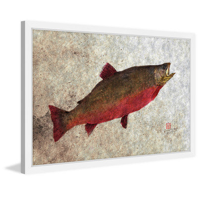 Marmont Hill Inc Marmont Hill - 'Arctic Char' by Dwight Hwang Framed Painting Print