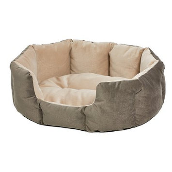Midwest Homes For Pets Quiet Time Deluxe Tulip Pet Bolster Color: Gray, Size: 20