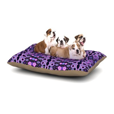 East Urban Home Nina May 'Medeaquilt' Dog Pillow with Fleece Cozy Top Size: Large (50