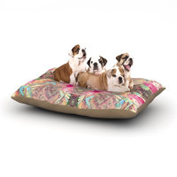 East Urban Home Danii Pollehn 'Indian Clash' Dog Pillow with Fleece Cozy Top Size: Small (40