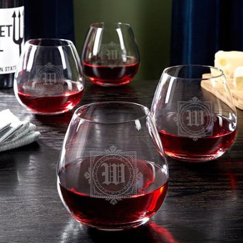 Darby Home Co Chevy Personalized 20 Oz. Stemless Wine Glass Letter: L