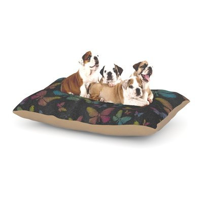 East Urban Home Snap Studio 'Butterflies II' Pastel Chalk Dog Pillow with Fleece Cozy Top Size: Small (40