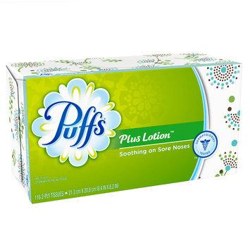 Plus Puffs Plus Lotion Facial Tissues, 1 Family Boxes, 116 Tissues per Box