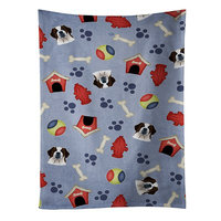 East Urban Home Dog House Saint Bernard Dishcloth