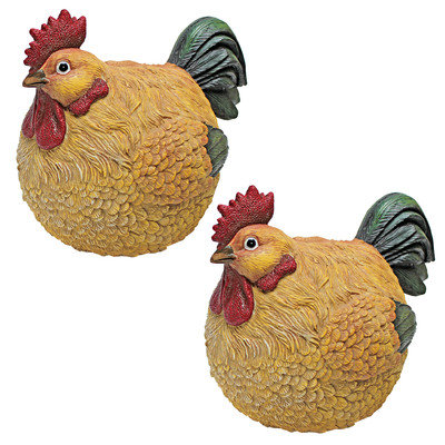 Design Toscano Roly-Poly Ball of Chicken Statue