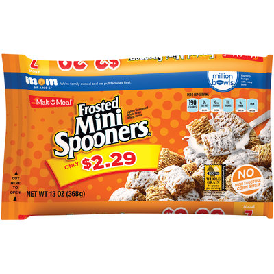 Malt-O-Meal® Frosted Mini Spooners® Cereal 13 oz. Bag