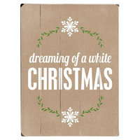 Artehouse, Llc 'Dreaming of a White Christmas' Textual Art on Wood Size: 16