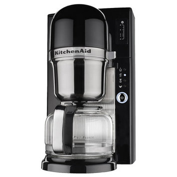 KitchenAid Pour Over Brewer 8 Cup Glass Coffee Maker, Onyx Black