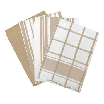 All Clad All-Clad Cappuccino Set of 4 Woven Kitchen Towels