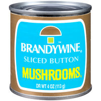 Brandywine® Sliced Button Mushrooms 4 oz. Can
