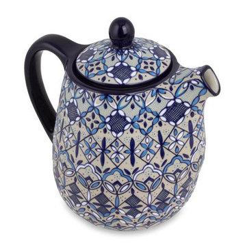 Novica Javier Servin Ceramic Coffee Maker