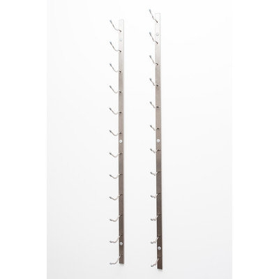 Vintageview Wall Series 18 Bottle Wall Mounted Wine Bottle Rack Finish: Brushed Nickel