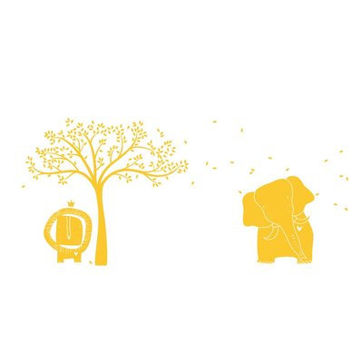 Littlelion Studio Baby Zoo Mural Monochromatic Wall Decal Color: Yellow