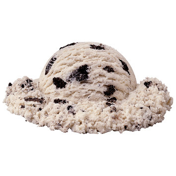 Sysco Wholesome Farms Imperial Cookies & Cream Ice Cream 3 gal. Tub
