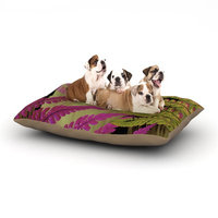 East Urban Home Alison Coxon 'Forest Fern' Plant Dog Pillow with Fleece Cozy Top Size: Small (40