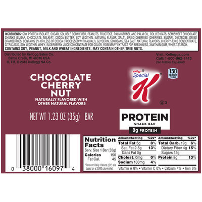Special K® Kellogg's Protein Chocolate Cherry Nut Snack Bar