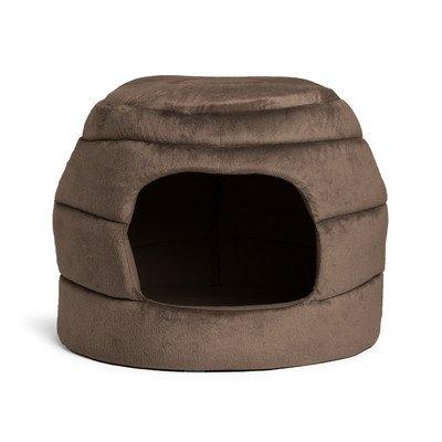 Best Friends By Sheri 2-in-1 Honeycomb Hut Cuddler Color: Dark Brown