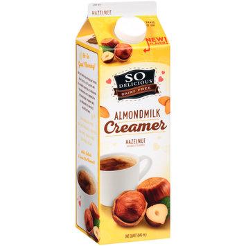 SO Delicious® Dairy Free Hazelnut Almond Milk Creamer 1 pt. Carton