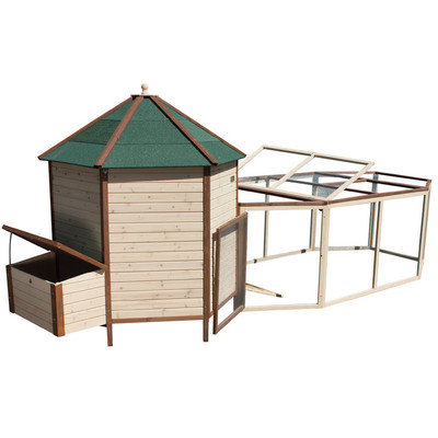 Advantek Arts and Crafts Tower Chicken Coop with Run
