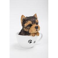 Hi-line Gift Ltd. Teacup Yorkshire Terrier Puppy Statue