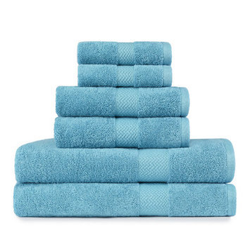 Tommy Bahama Cypress 6 Piece Towel Set Color: Arroya Blue
