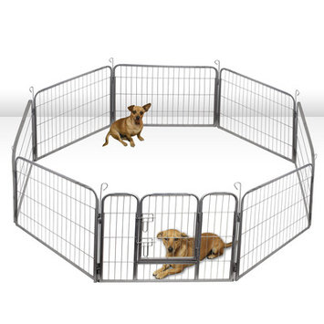 OxGord Heavy Duty Metal Tube Exercise Pet Playpen