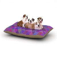 East Urban Home Louise 'Abstract' Dog Pillow with Fleece Cozy Top Size: Small (40