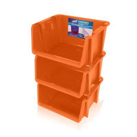 Rebrilliant Stack 'Ems- Stackable Storage Bin Color: Orange
