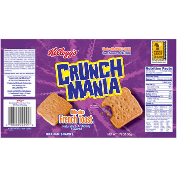 Kellogg's® Crunch Mania™ Bite-Size French Toast Graham Snacks 1.76 oz. Bag