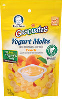 Gerber Graduates Yogurt Melts Freeze-Dried Yogurt & Fruit Snacks, Peach, Naturally Flavored with Other Natural Flavors, 1 Ounce, 1 Count (Pack of 7)