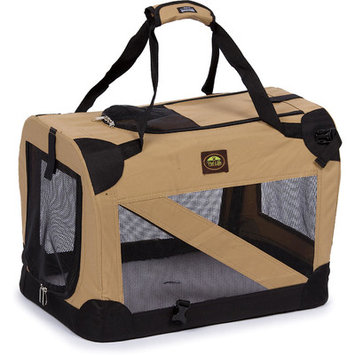 Mojetto Pet Life Khaki Vista View Collapsible Carrier SM