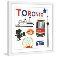 Marmont Hill Inc Marmont Hill - 'Toronto Motif' by Molly Rosner Framed Painting Print