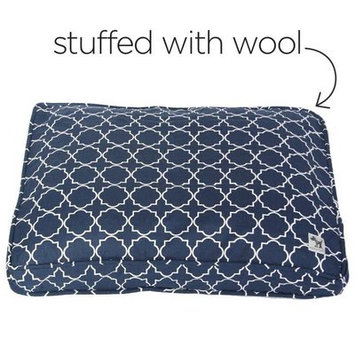 Molly Mutt The Sheepy Wool-Filled Dog Bed Size: Medium (21