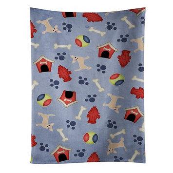 East Urban Home Dog House Chihuahua And Footprint Dishcloth