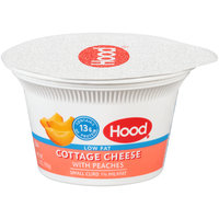 Hood® Lowfat Small Curd Cottage Cheese with Peaches 5.3 oz. Cup