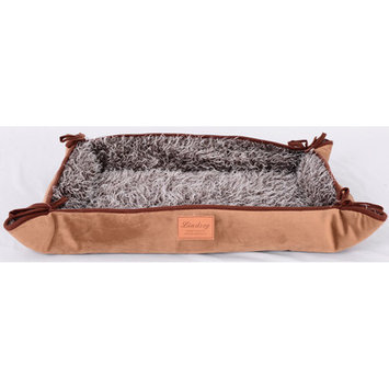 Lindsey Home Fashion Faux Lamb Fur Magic Dog Bed Color: Brown