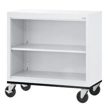 SANDUSKY BM10361830-22 Mobile Bookcase,36x18x30 in, White