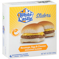 White Castle® Microwavable Sausage, Egg & Cheese Breakfast Sliders 10.72 oz. Box