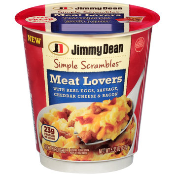 Jimmy Dean® Meat Lovers Simple Scrambles™ 5.35 oz. Microwavable Bowl