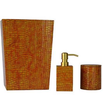 Brayden Studio Kayleigh Genuine Leather 3 Piece Mini Bathroom Accessory Set