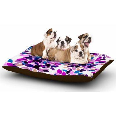 East Urban Home Ebi Emporium 'Dahlia Dots 3' Dog Pillow with Fleece Cozy Top