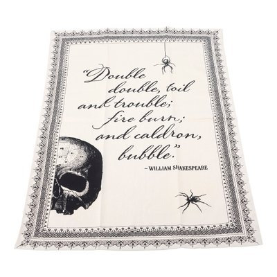 The Holiday Aisle Double Toil and Trouble Tea Dishcloth