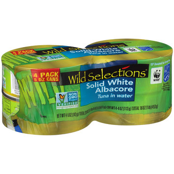 Wild Selections® Solid White Albacore Tuna in Water 4-5 oz. Pack