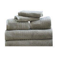 Rockford International Mosaic 6 Piece Towel Set Color: Basil