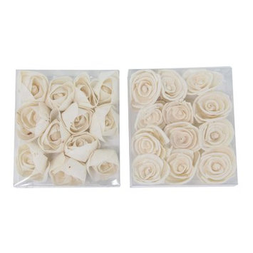 House Of Hampton Boxed Sola Natural Carnation and Ranunculus Flower